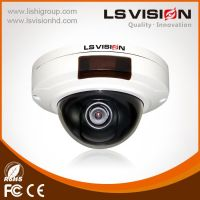 LS VISION vandalproof built-in POE dome camera with SD card