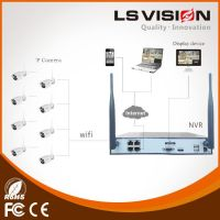 LS VISION 4CH wifi signal wireless system with monitor LCD