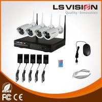 LS VISION 4CH wireless security system monitoring 960P resolution ip camera