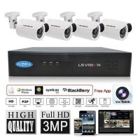 LS VISION security system plug and play kits 4ch poe nvr