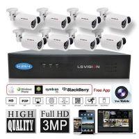LS VISION 3MP HD night vision security nvr ip camera system