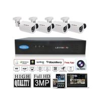 LS VISION 1080p p2p NVR with 3MP IP POE Cameras KIT (LS-K7104P)
