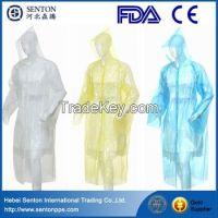 Disposable Pe raincoat/rain poncho