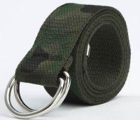 canvas belt man casual canvas Belt Jeans woman double ring D type buckle