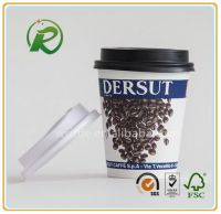 China supplier disposable paper cups for hot drinking with custom logo printing and lids