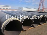 Underground pre insulated chilled water pipeline with polyurethane foam insulation