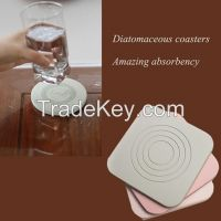 excellent absorbant Eco-friendly heat resistant diatomite coasters