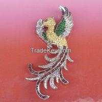 925 sterling silver peacock brooch / pendant, Dual pendants