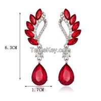 new design bridal ruby earrings