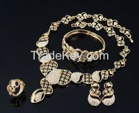 yellow gold jewelry sets, crystals/CZ jewelry sets