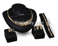 New design fashion jewelry set  with gold  plating  and  e-coating