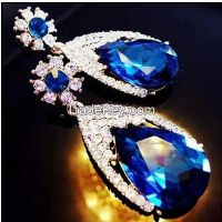 925 sterling silver sapphire earrings for party