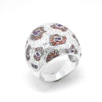 925 sterling silver high polished football rings