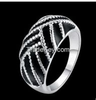 high quality and low price black enamel ring