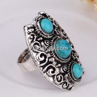 antique silver rings, turquoise stones with black enamel rings