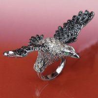 good style for men's rings, eagle ring, popular ring