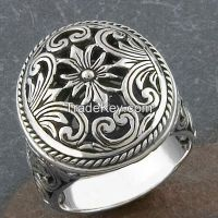 men's antique silver ring, latest style