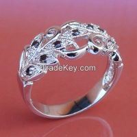 high polished nice style with CZ rings, good finishing  rings