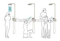 Cebien Shower Set - 'GARO UD' - Shower System with Rain Shower Head, Hand Shower & Wall-Mounted Shelf