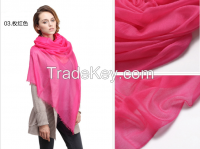 100% cashmere worsted scarves, 300s/1