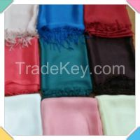 Plain Dyed Silk Shawls - Scarves