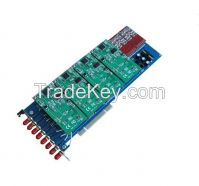 GSM800E 8 port GSM Asterisk card, VoIP PBX Card with GSM modules PCI card