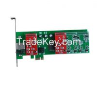 VP-TDM430E 4 Port FXO Asterisk Analog PCI-E Card 2U AXE410P