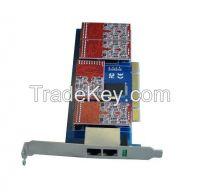 4 FXO/FXS card with Low Profile for 2U server- TDM410P supports Asterisk elastix freepbx, tdm400pe