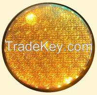 Yellow cobweb lens traffic light module