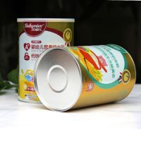 Easy peel off lid protein powder paper can food grade