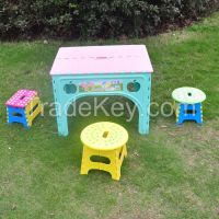 Durable Outside furniture Plastic Folding Square Table And Chair