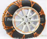 2016 hot sale standard tractor  plastic rubber snow chain tire chain made in china