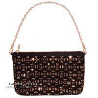 rhinestone, nailheads make up bag / pouch