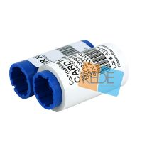 white compatible ribbon for zebra p310i plastic card printer