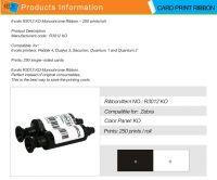 For Evolis Pebble R3012 KO card printer ribbon