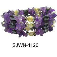 Magnetic wrap, hematite wrap, gemstone wrap, necklace, cateye necklace