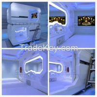 Hotsale Kids Theme Beds Capsule Hotel Bed Sleep Box Nap Bed Sleep Cabin Sleep Pod Prefabricated Container House