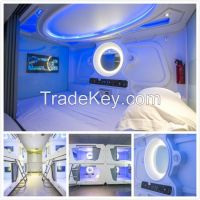 New Release Hotel Capsule Bed Steel Bunk Beds Hostel Capsule Nap Bed Sleep Pod Cabin Room Container House Sleep Box