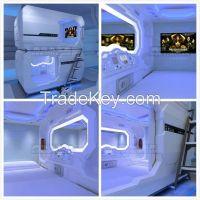 New Design Capsule Bedroom Metal Bunk Bed, Space Saving Capsule Hotel Cabin Bed, Sleep Box, Sleep Pod, Log Cabin