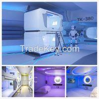 2016 New Design Hostel Capsule Bed Hotel Metal Capsule Bunk Bed Hostel Sleep Pod Sleepbox for Airport