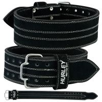 "Hurley 4"" Black Leather Power Belt 