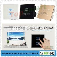 UK standard Electric Curtain Remote Control Touch Switches