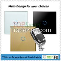 EU/UK wifi mobile app remote control toughened glass panel light touch switch