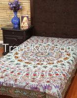 Blue cotton elephant bedspreads