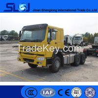 Sino trucks howo 6x4 tractor head truck with low price
