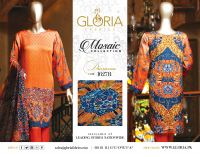 Mosaic - Printed & Stone Embellished 3-Piece Silk Unstitched Pakistani Designer Suit Collection For Women