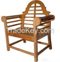 Adhikari teak garden armchair