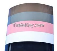 high gloss solid color PVC film