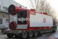 Double drum oil fired steam boiler