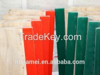 customer's size double bevel pu squeegee blades/squeegee for silk screen printing